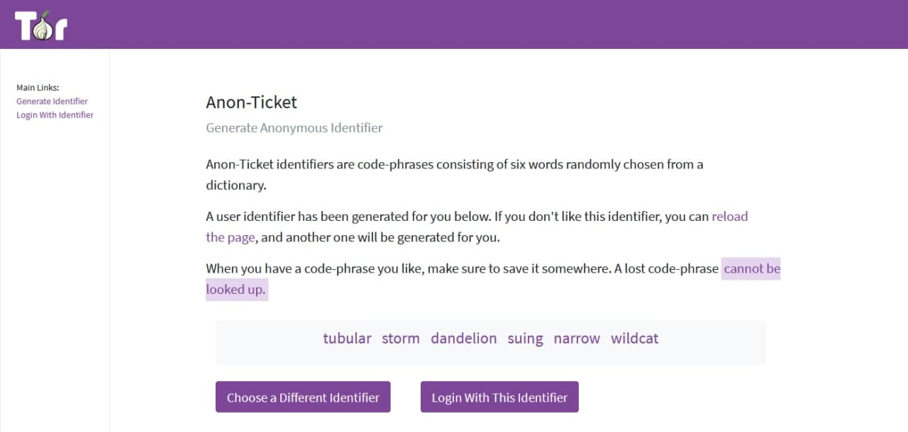 Anonymous Ticket Portal